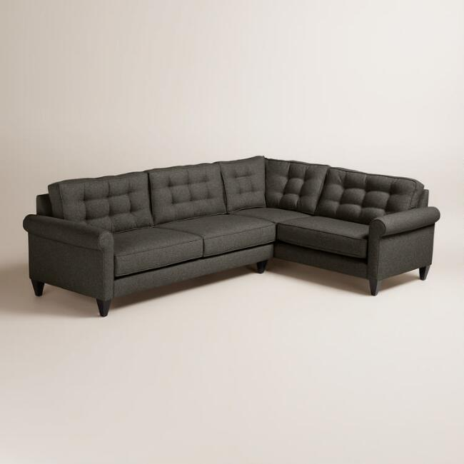 Chunky Woven Bryson Left-Facing Upholstered Sectional