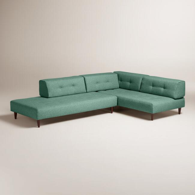 Chunky Woven Albin Upholstered Sectional Sofa