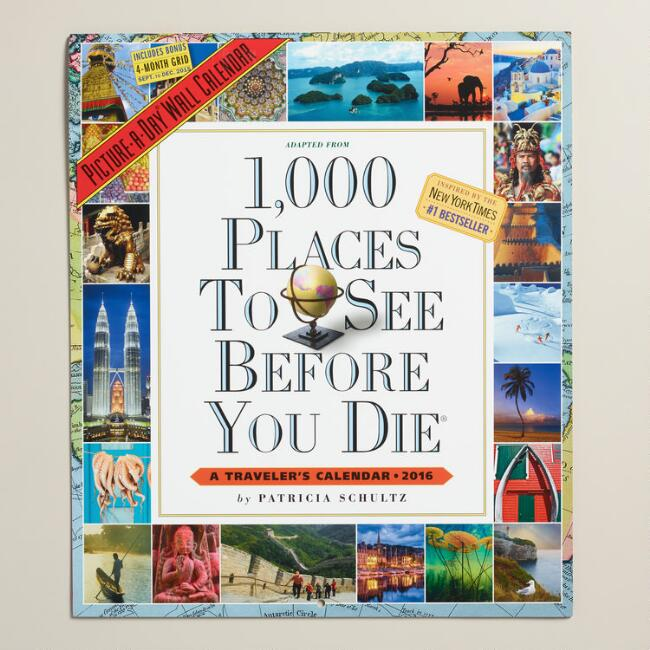 1,000 Places to See Before You Die Wall Calendar