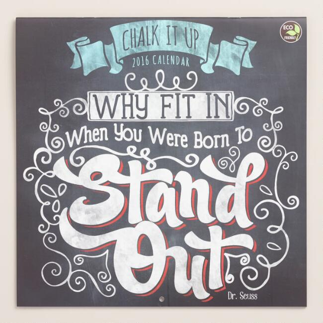 Chalk It Up Wall Calendar