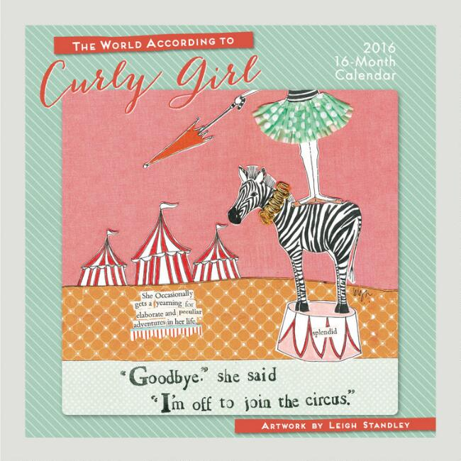 The World According to Curly Girl Wall Calendar