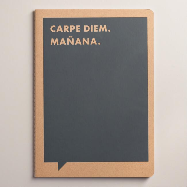 Large Carpe Diem Frank and Funny Notebook