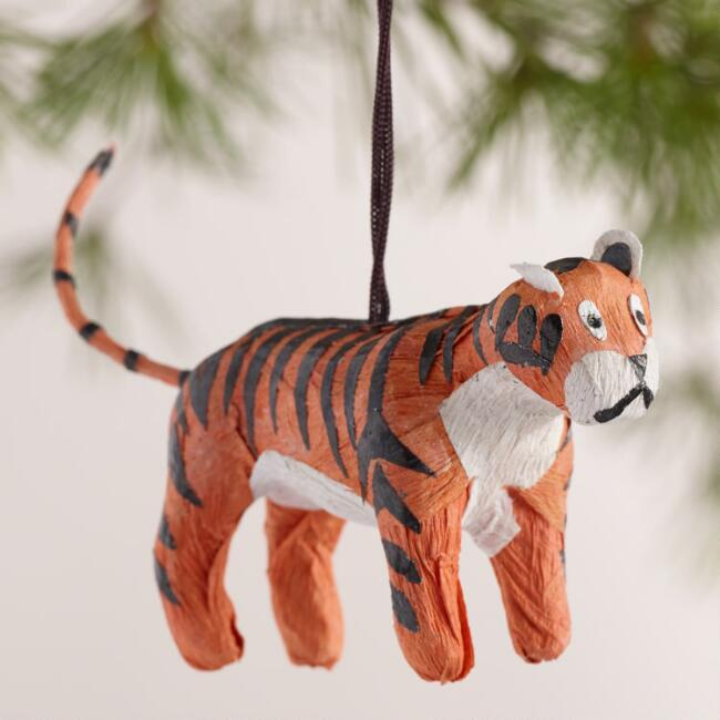 Paper Safari Animal Ornaments, Set of  6