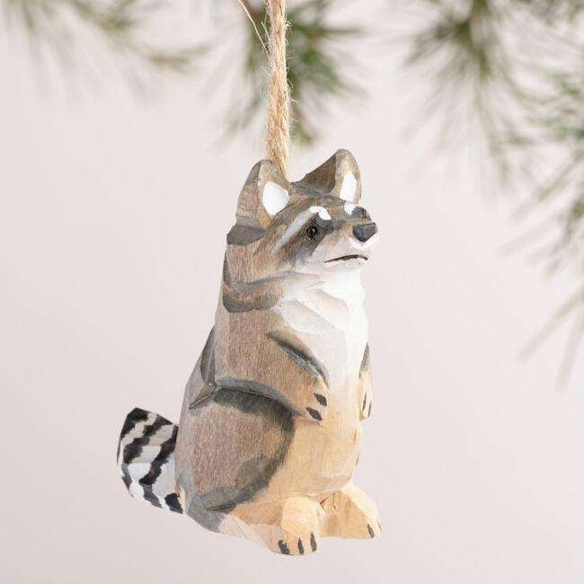 Wood Woodland Animals Ornaments, Set of 6
