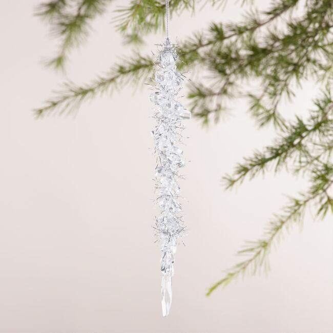 Tinsel Icicle  Ornament