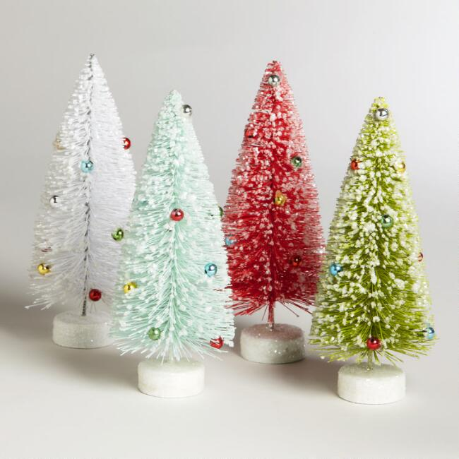 Bottlebrush  Trees,  Set of  4