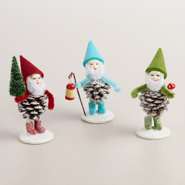 Pinecone Gnomes,  Set  of 3