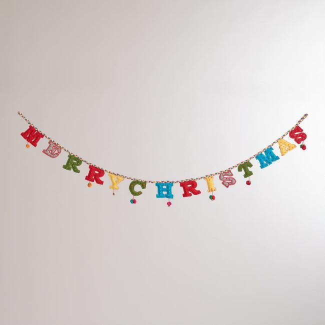 Felt  Merry Christmas Garland