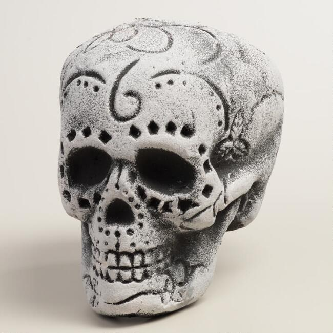 Black and White Los Muertos Skull