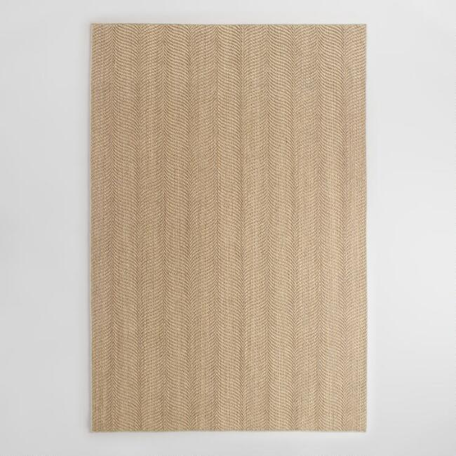 Bleached Jacquard Woven Sisal Area Rug