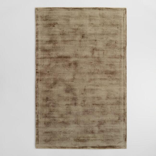 Taupe Tufted Viscose Gable Area Rug