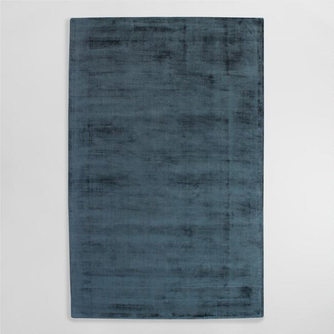 Indigo Tufted Viscose Gable Area Rug