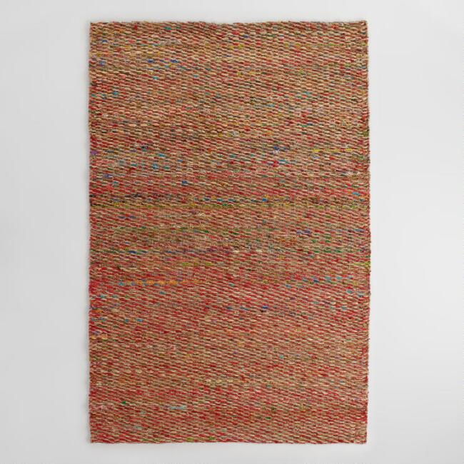 Multicolor Woven Hemp and Silk Indori Area Rug