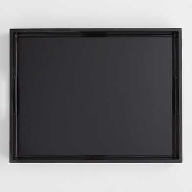 Black Rectangular Lacquer Serving Tray