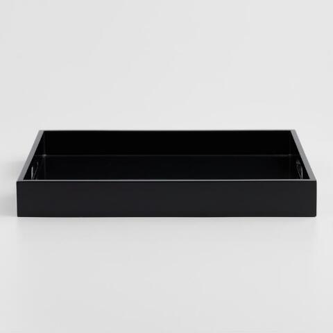 Black Rectangular Lacquer Serving Tray Previous V2