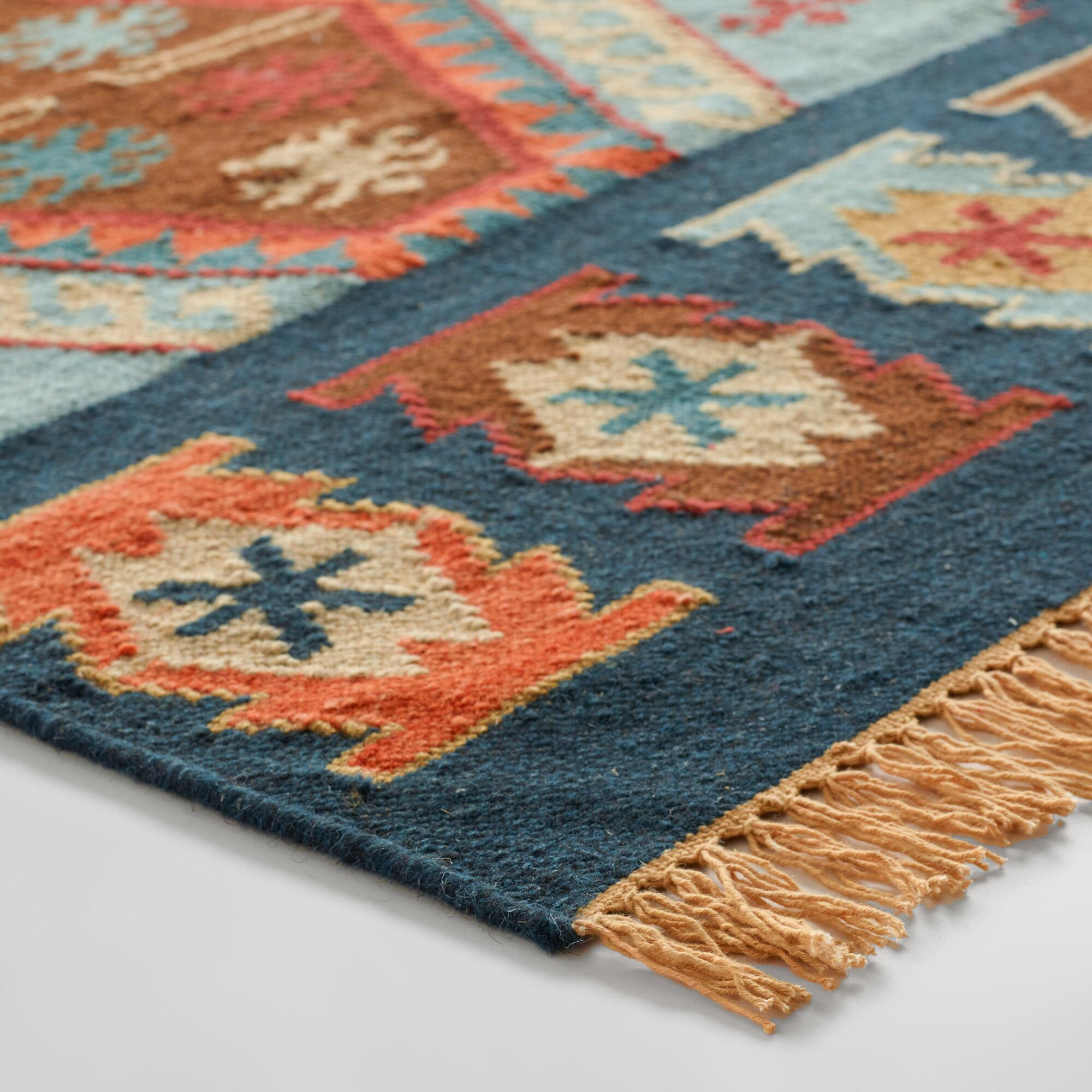 Blue Wool Runner Rug Rugs Ideas