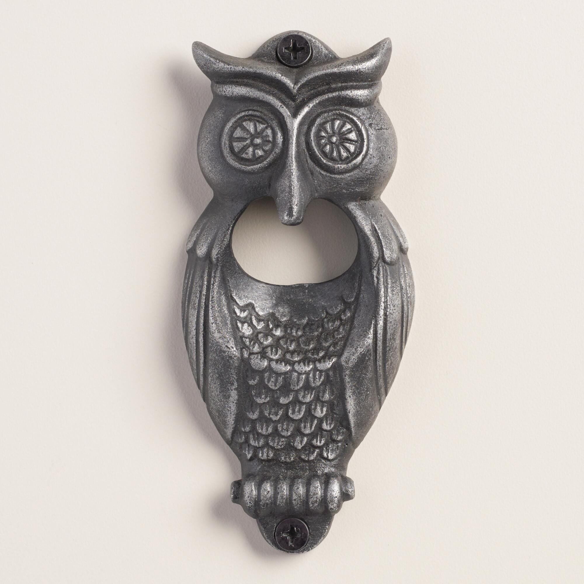 Bottle brush woodland animals - Owl Wall Mounted Bottle Opener