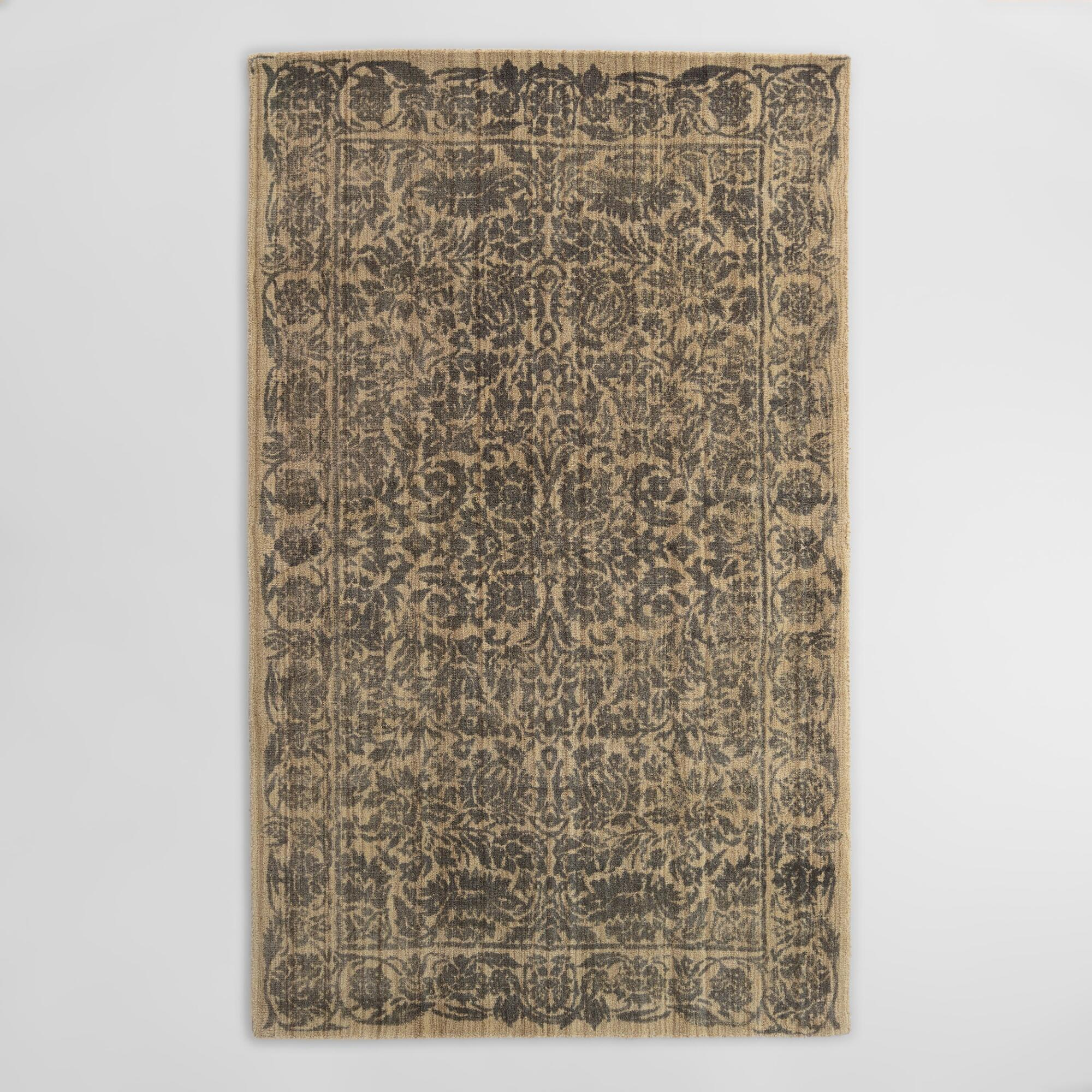 Gray Fl Tufted Wool Shire Area Rug