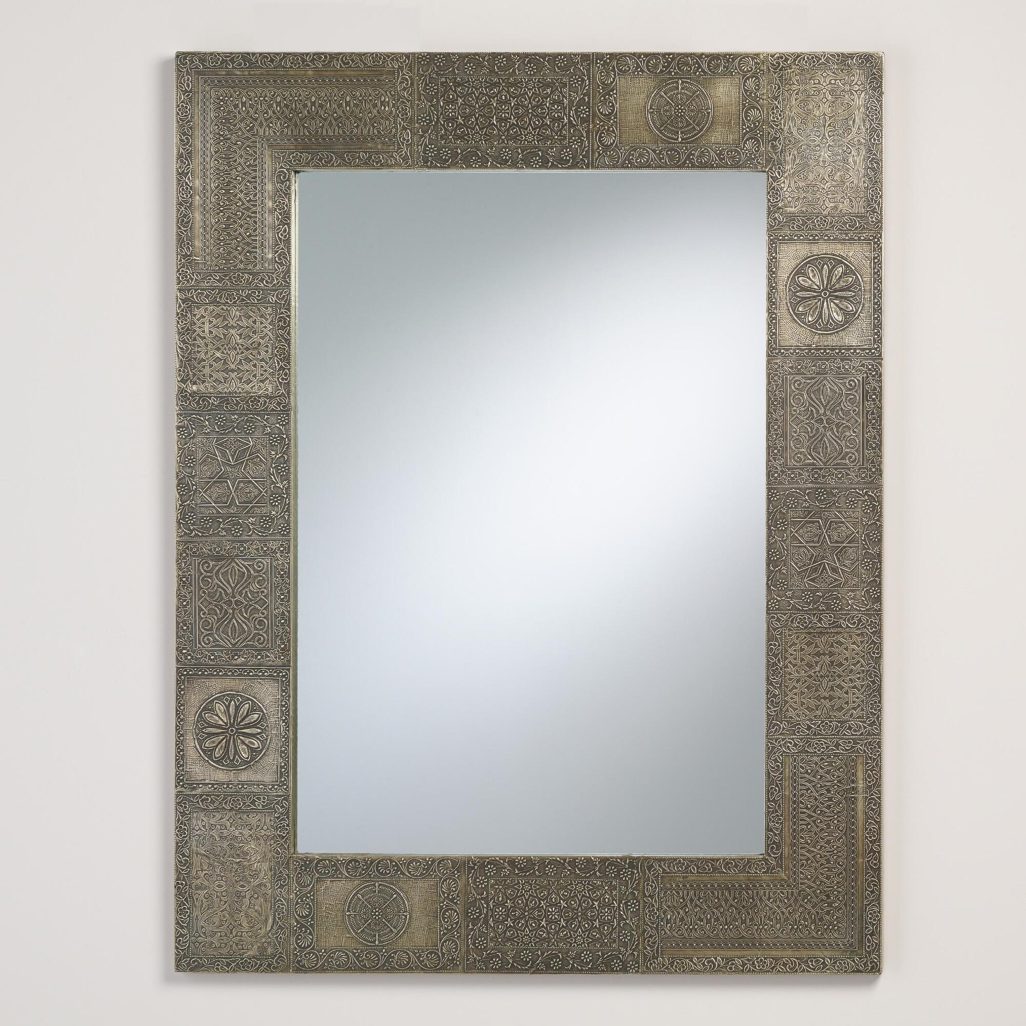 Pewter Patchwork Maya Mirror by World Market
