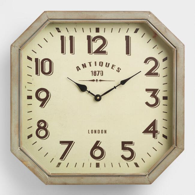 Allston Metal Wall Clock