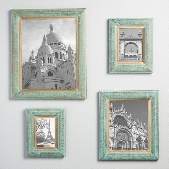 Green and Gold Wood Jolie Wall Frame | World Market