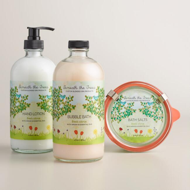Beneath the Trees Fresh Citrus Bath and Body Collection