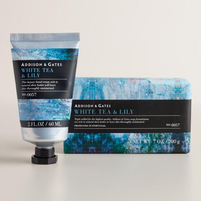 A&G Stonewash White Tea and Lily Bath and Body Collection
