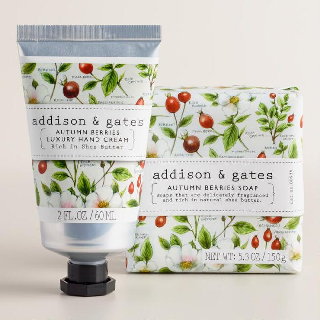 A&G Botanical Autumn Berry Bath and Body Collection