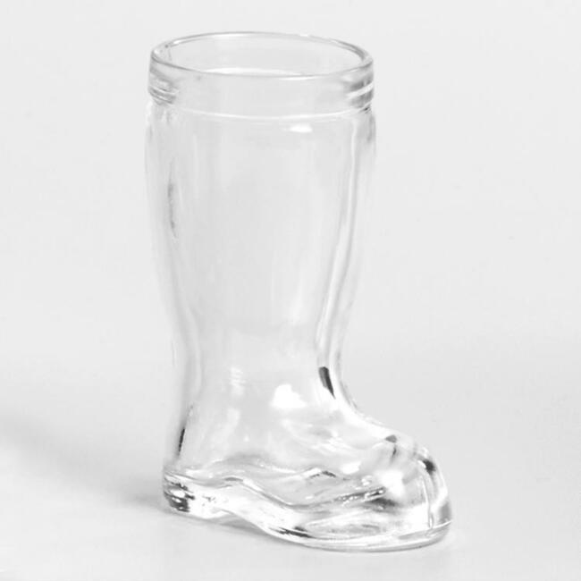 Glass Beer Boots Set of 2