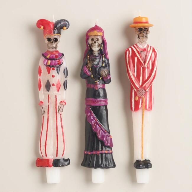Carnival of Fear Taper Candles, Set of 3