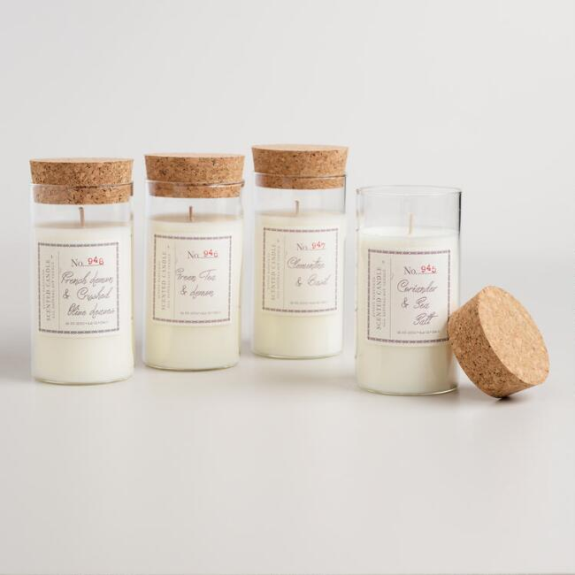Cork Lid Scented Jar Candle