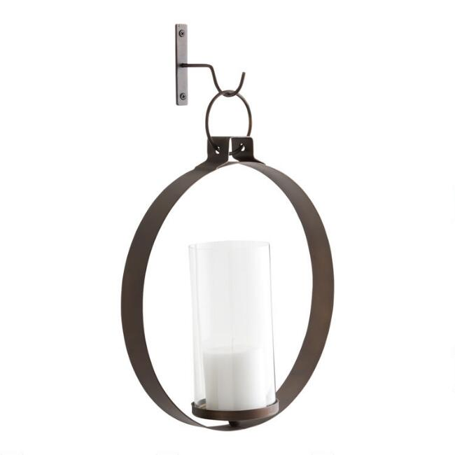 Bronze metal ethan round pendant sconce world market bronze metal ethan round pendant sconce aloadofball Choice Image
