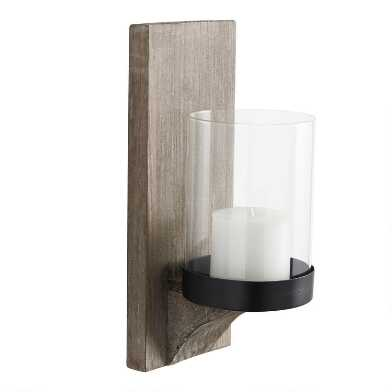 Rustic Wood Mason Wall Sconce