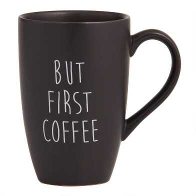 Black But First Coffee Mugs Set of 4