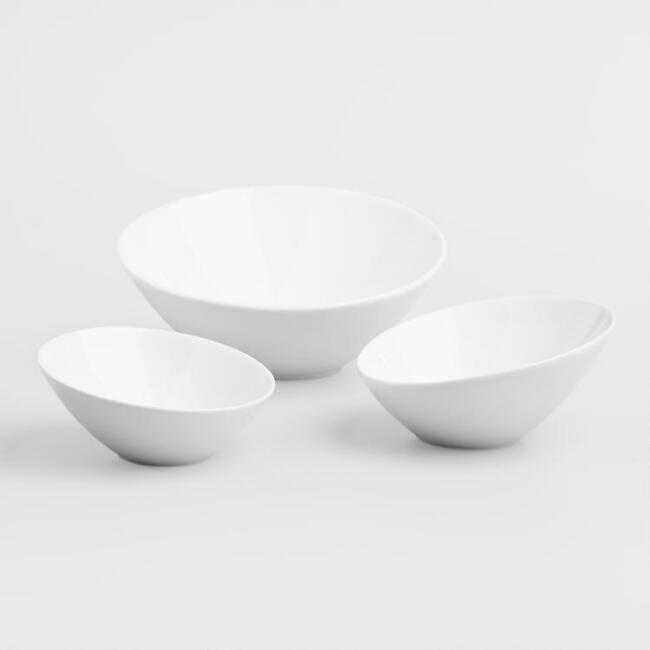 Slanted Serving Bowls Set of 2