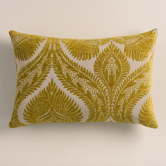 Citron Yellow Nouveau Lumbar Pillow