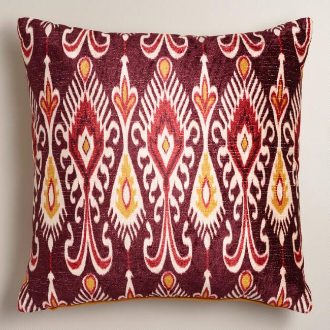 Purple and Yellow Taza Throw Pillow