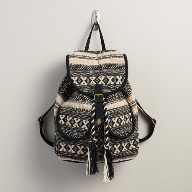 Black and Cream Tribal Backpack
