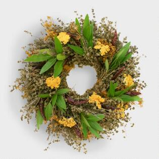 live natural herb wreath - Easter Decor