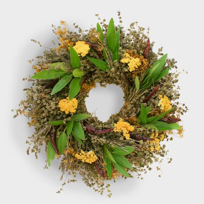 Live Natural Herb Wreath