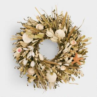 seashell and herb wreath - Easter Decor