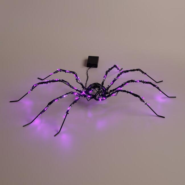 LED 50-Bulb Battery Operated Halloween Spider