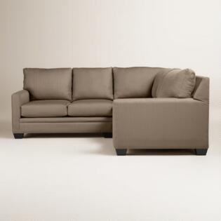 Textured Woven Holman Upholstered Left Facing Sectional