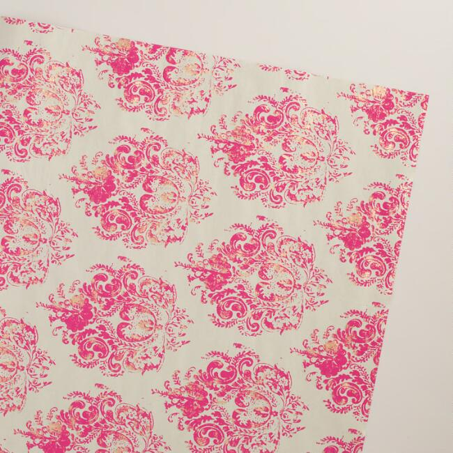 Pink Claudio Handmade Wrapping Paper Rolls, 3-Pack