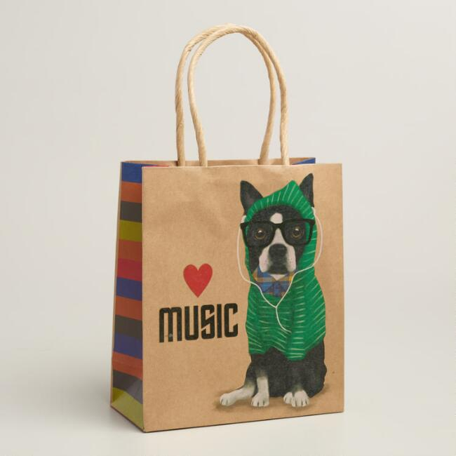 Small Hipster Terrier Gift Bags, Set of 3