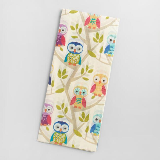 Birthday Owls Tissue Paper, 4-Count