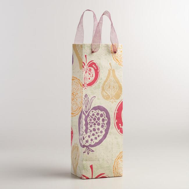 Plum Harvest Handmade Wine Gift Bags, Set of 2