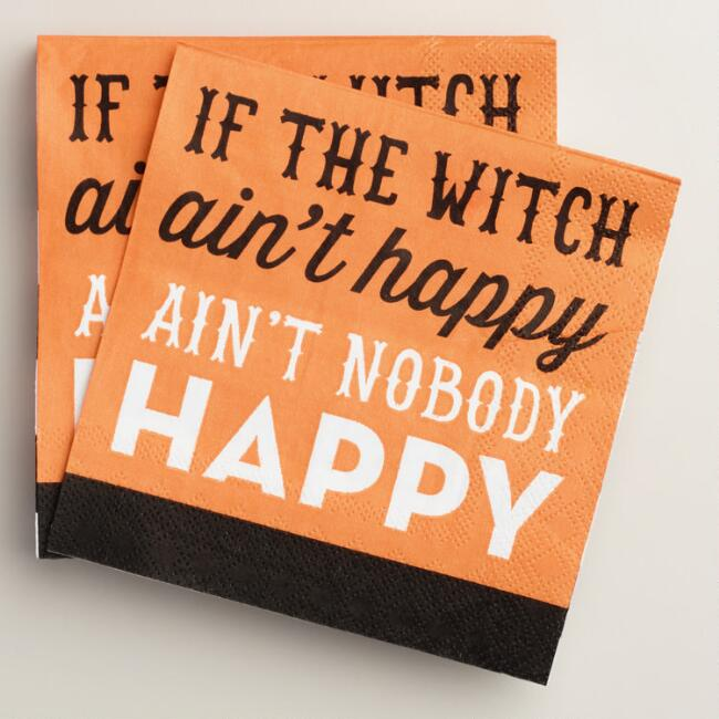 If The Witch Ain't Happy Beverage Napkins, 20-Count