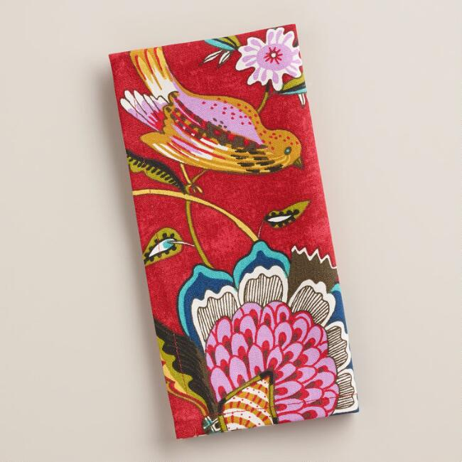 Floral Bird Natasha Napkins, Set of 4