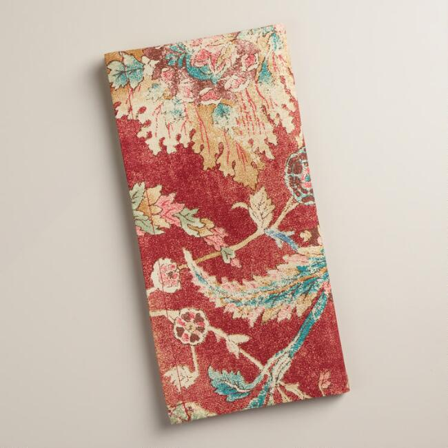 Red Floral Genevieve Napkins, Set of 4